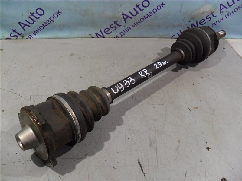 Привод Nissan Cedric UY33 RD28 1997 задний правый