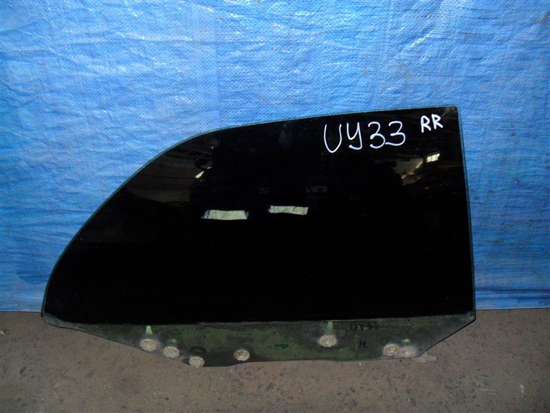 Стекло двери Nissan Cedric UY33 RD28 1997 заднее правое