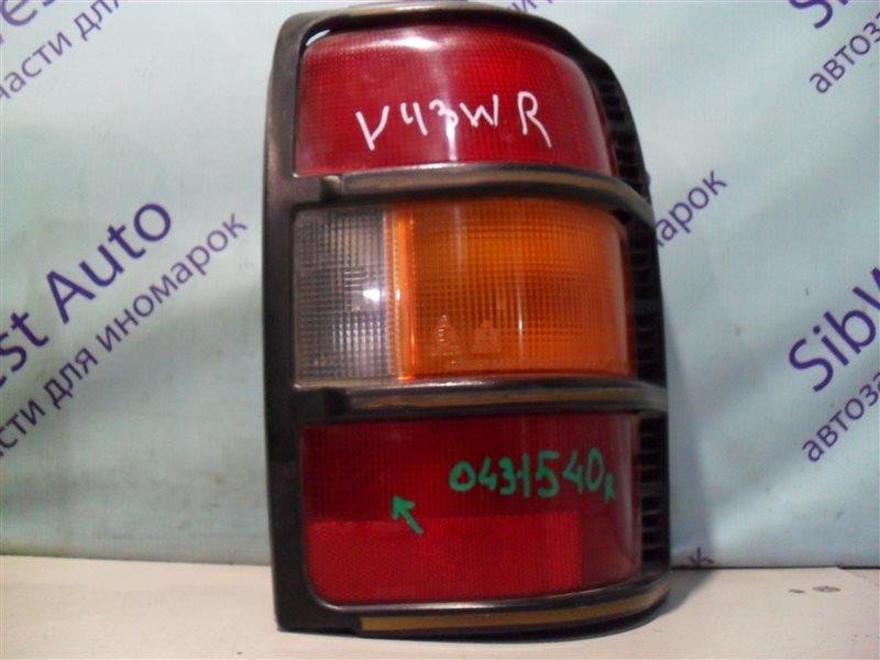 Стоп-сигнал Mitsubishi Pajero V43W 6G72 1994 задний правый