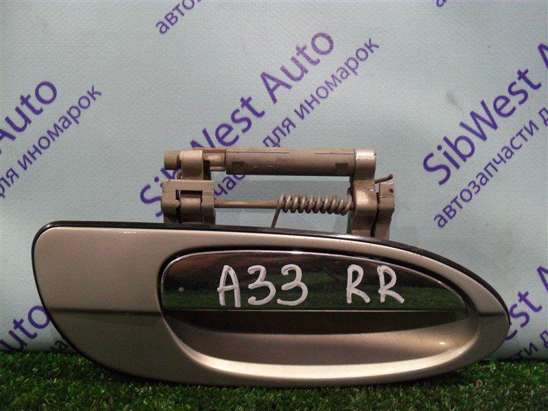 Ручка двери внешняя Nissan Cefiro PA33 VQ25DD 2000 задняя правая