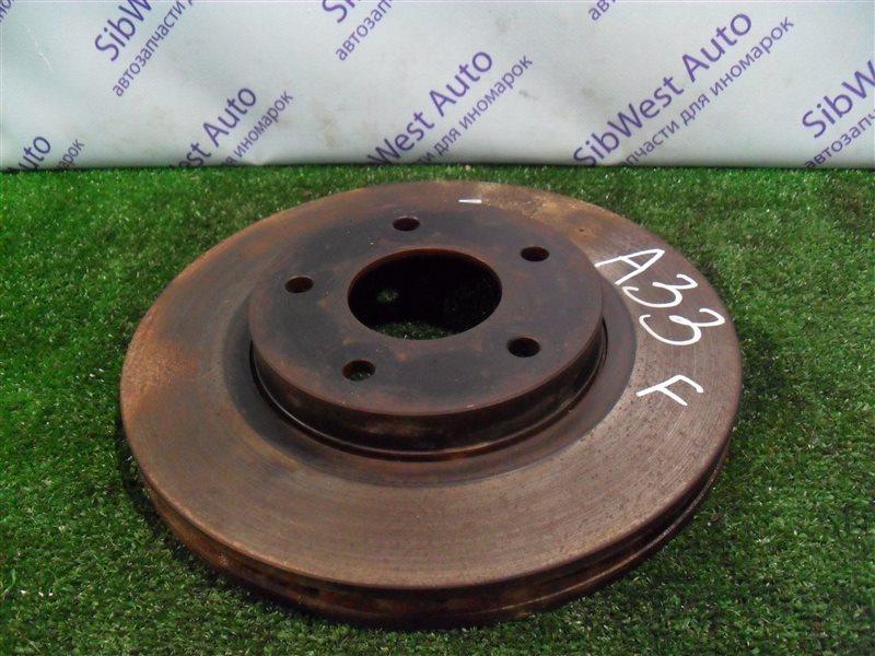 Тормозной диск Nissan Cefiro PA33 VQ25DD 2000 передний