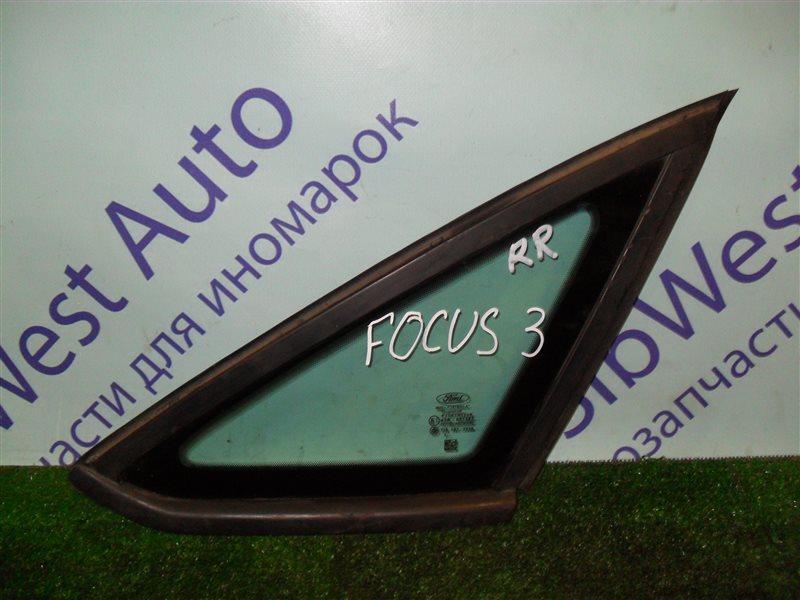 Форточка кузова Ford Focus 3 CB8 IQDB 2013 задняя правая