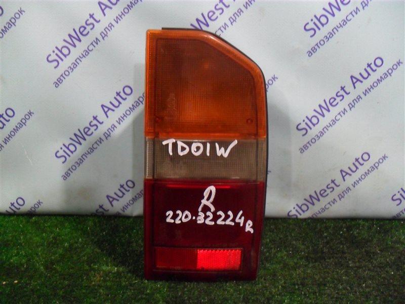 Стоп-сигнал Suzuki Escudo TD01W G16A 1993 задний правый