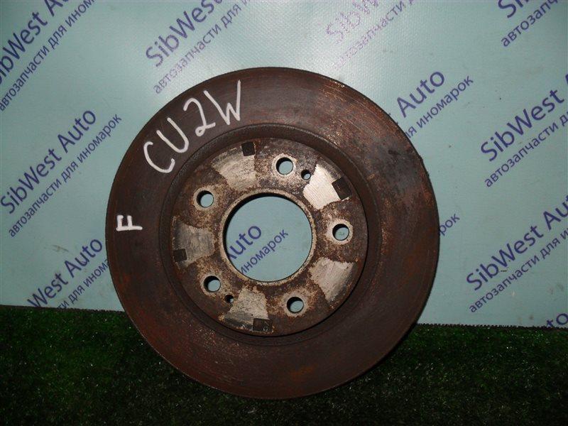Тормозной диск Mitsubishi Airtrek CU2W 4G63 2001 передний