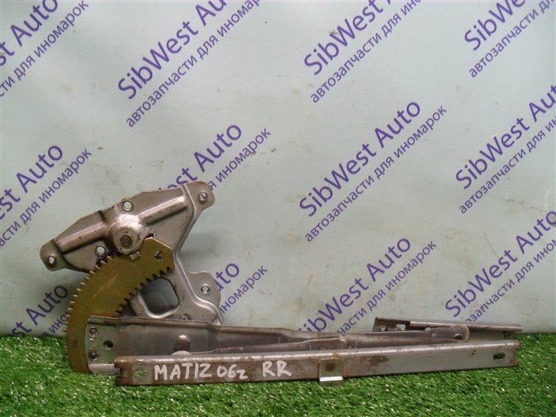 Стеклоподъемник Daewoo Matiz KLYA F8CV 2006 задний правый