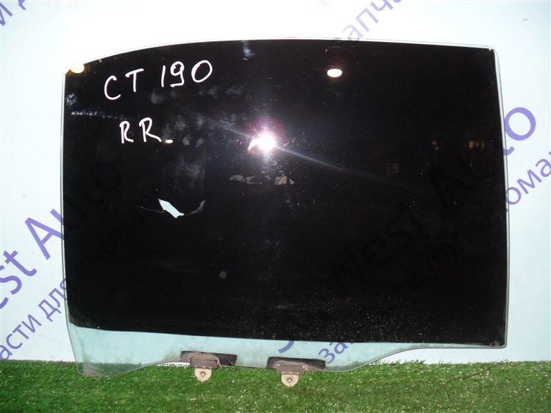 Стекло двери Toyota Corona CT190 2C 1994 заднее правое