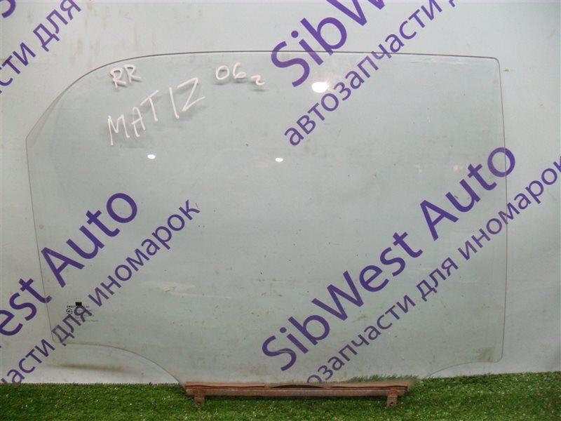 Стекло двери Daewoo Matiz KLYA F8CV 2006 заднее правое
