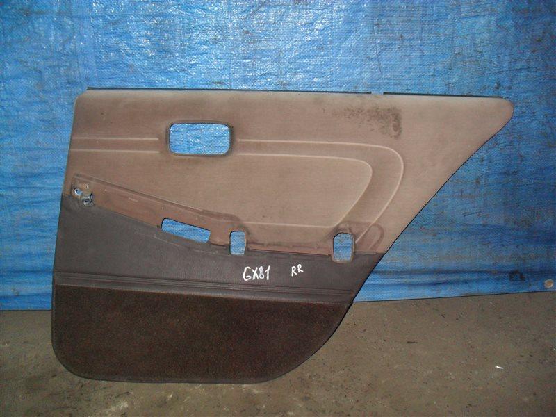 Обшивка дверей Toyota Mark Ii GX81 1G-FE 1989 задняя правая