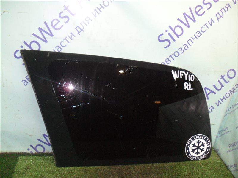 Стекло собачника Nissan Ad WFY10 GA15DS 1993 заднее левое