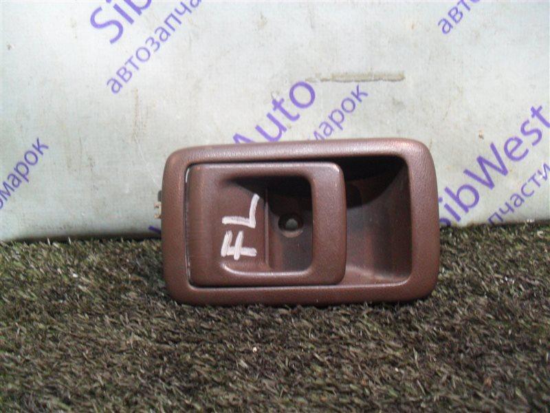 Ручка двери внутренняя Toyota Starlet EP82 4E-F 1991 передняя левая
