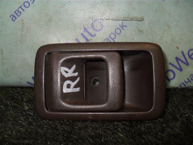 Ручка двери внутренняя Toyota Starlet EP82 4E-F 1991 задняя правая