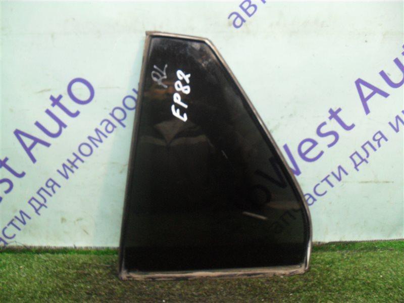 Форточка двери Toyota Starlet EP82 4E-F 1991 задняя левая
