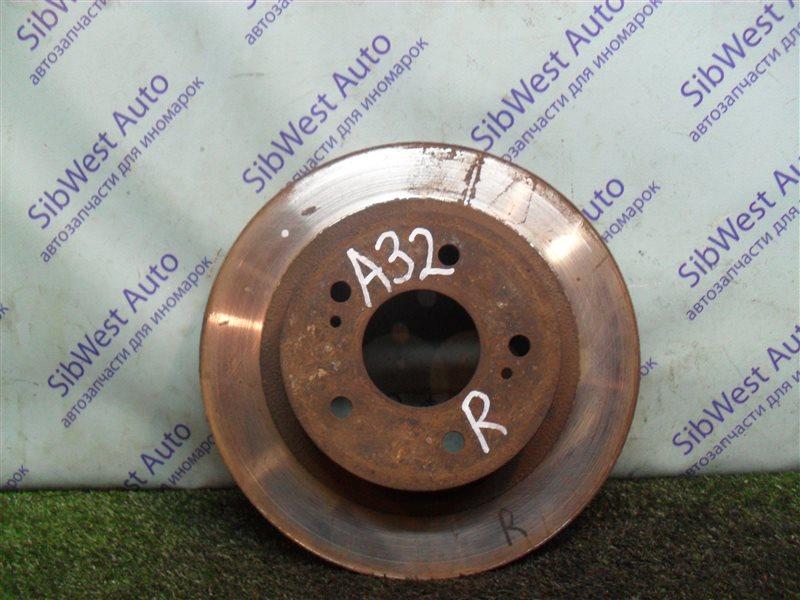 Тормозной диск Nissan Cefiro A32 VQ20DE 1997 задний