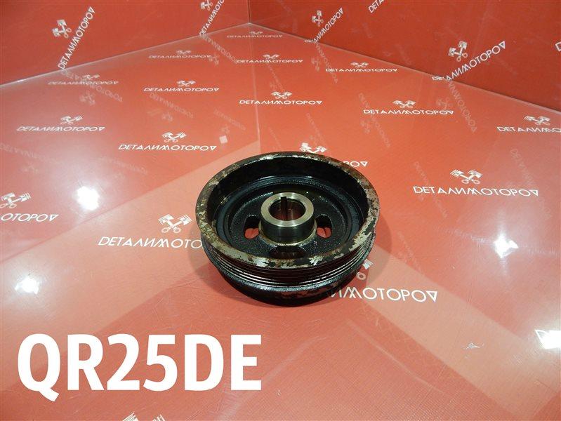 Шкив коленвала Nissan Bassara TA-JTU30 QR25DE