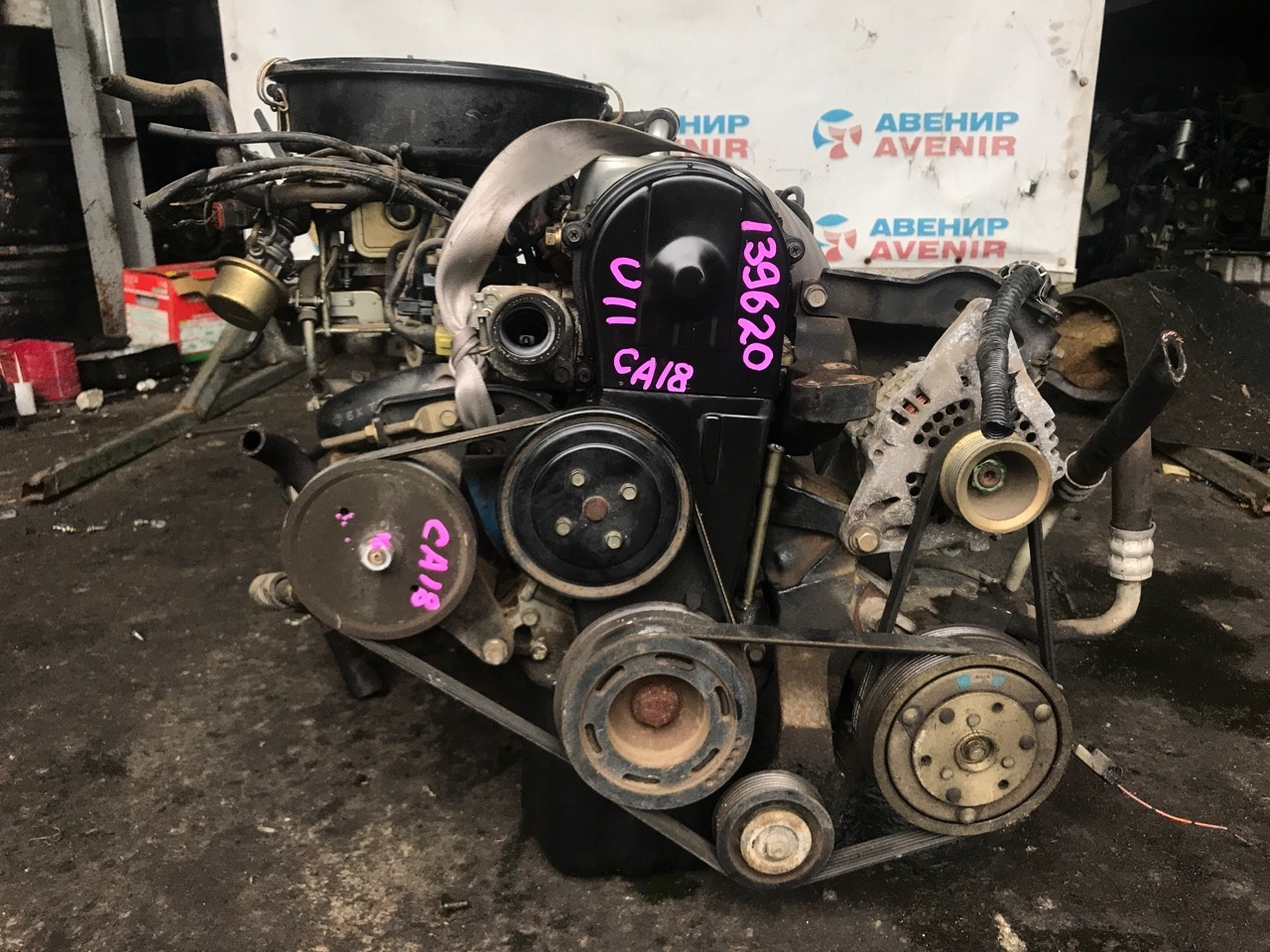 Двигатель Nissan Bluebird U11 CA18