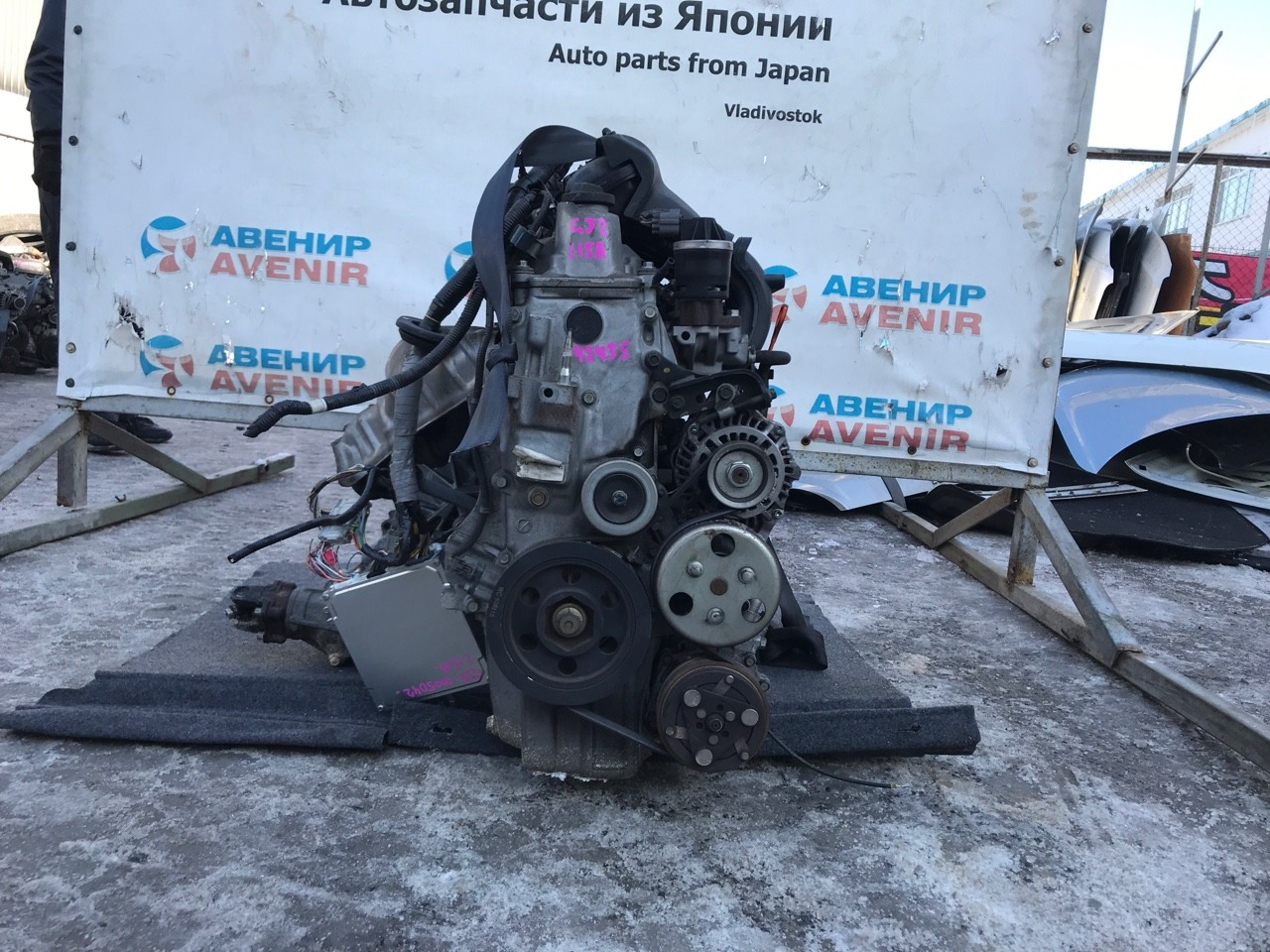 Двигатель Honda Airwave GJ2-1005042 L15A