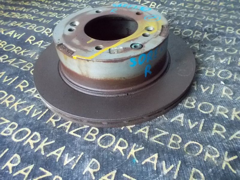 Тормозной диск Kia Sorento BL 2002 задний левый