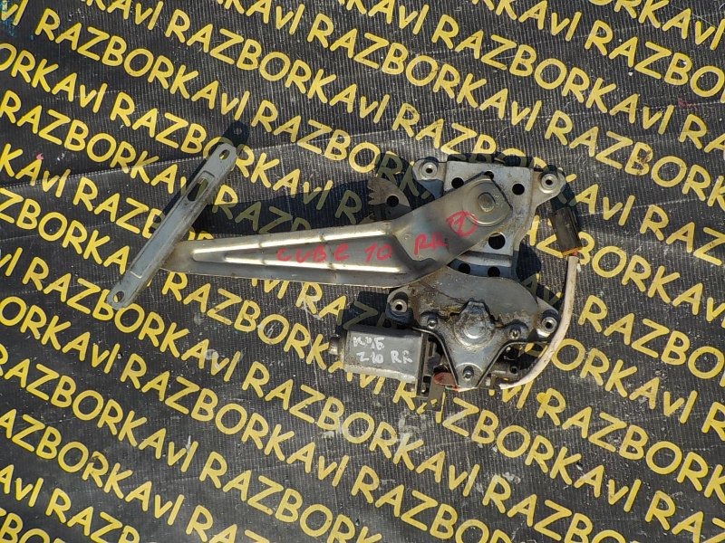 Стеклоподъемник Nissan Cube Z10 CGA3DE 1998 задний правый
