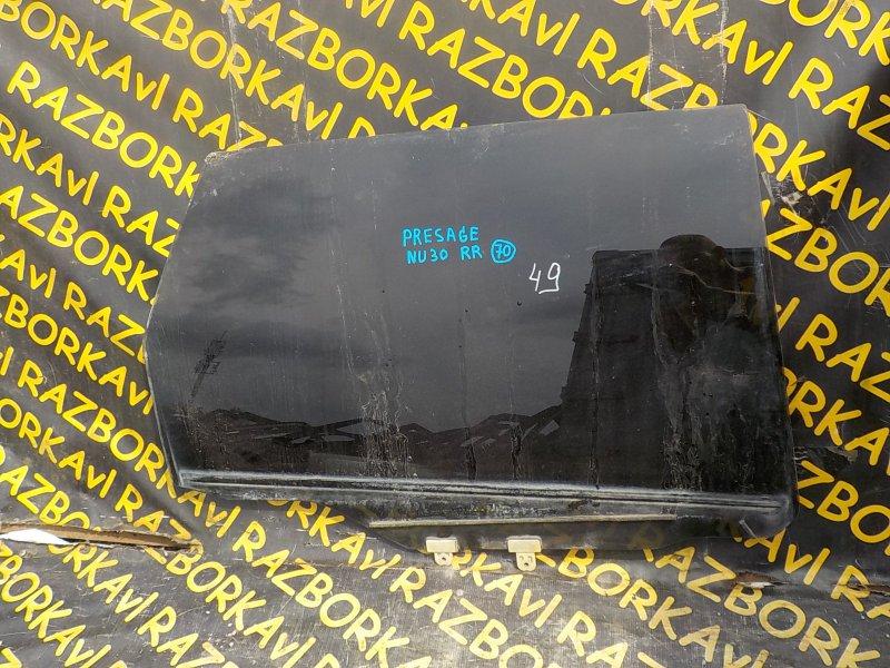 Стекло Nissan Presage VNU30 VQ30DE 1998 заднее правое