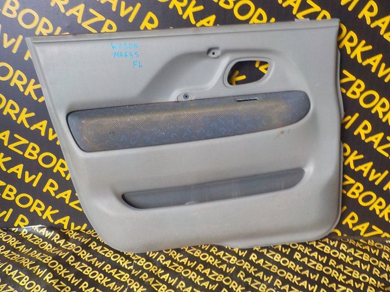 Обшивка дверей Suzuki Wagon R Plus MA63S K10A 1999 передняя левая