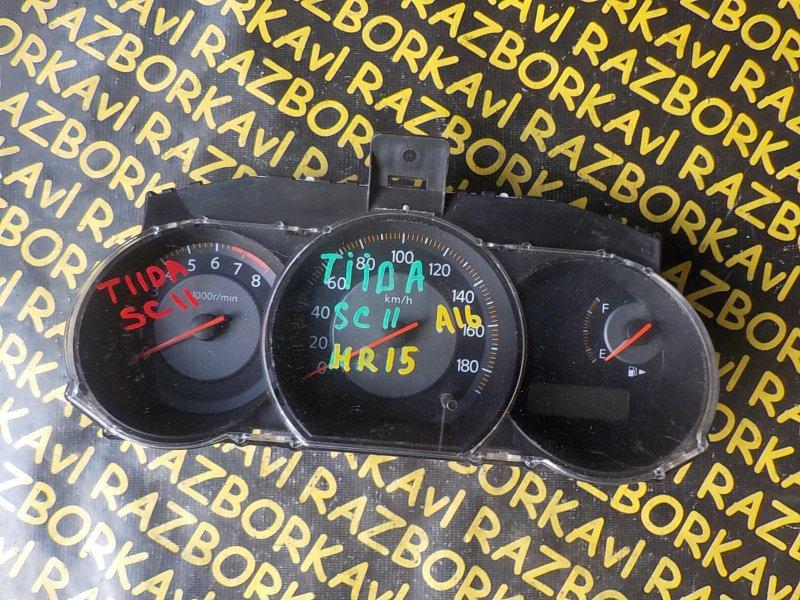 Спидометр Nissan Tiida SC11 HR15DE