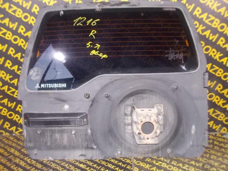 Стекло двери задней Mitsubishi Pajero Junior H57A 4A31 заднее