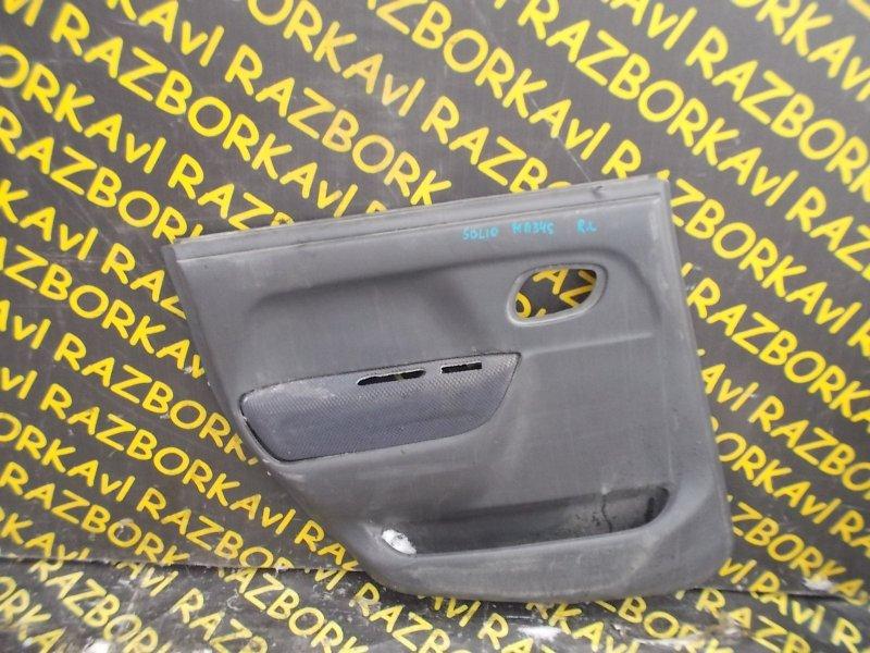 Обшивка дверей Suzuki Wagon R Solio MA34S M13A 2000 задняя левая