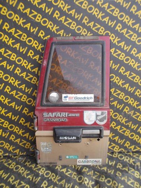 Дверь задняя Nissan Safari WGY60 TB42E 1987 задняя левая