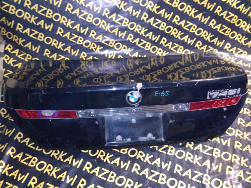 Крышка багажника Bmw 745 E65 N62B44 2002 задняя