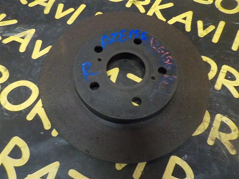 Тормозной диск Toyota Blade AZE154H 2AZFE задний правый