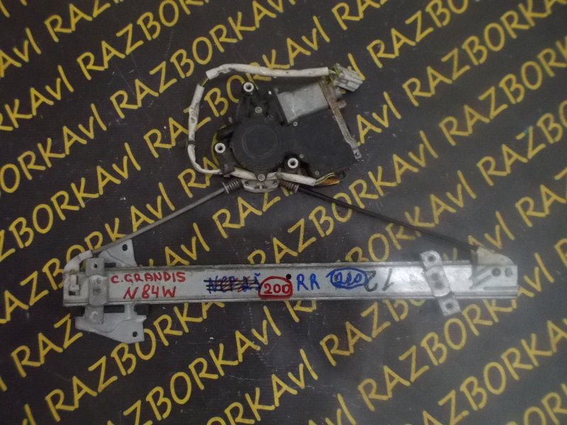 Стеклоподъемник Mitsubishi Chariot Grandis N84W задний правый