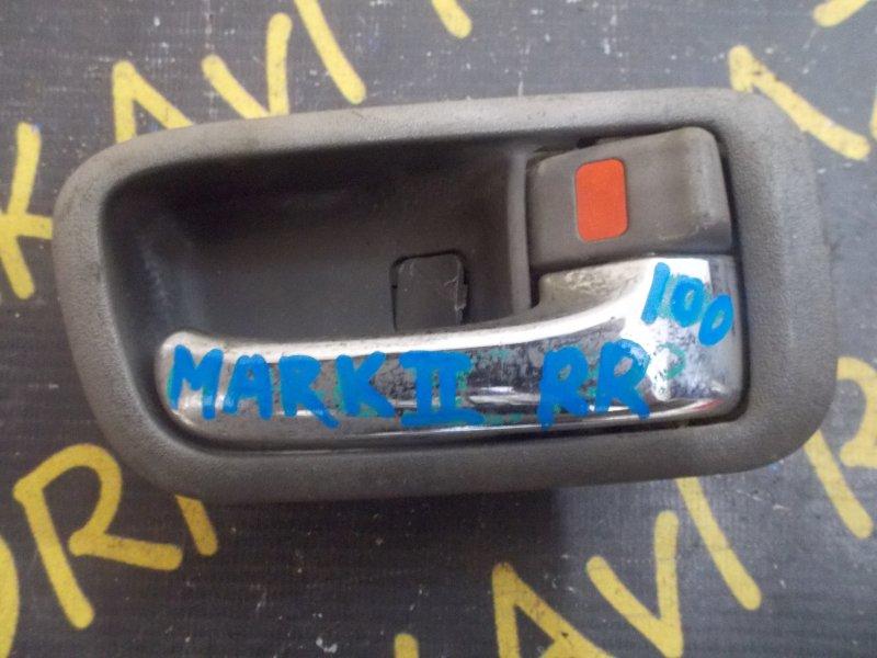 Ручка двери внутренняя Toyota Markii GX100 задняя правая