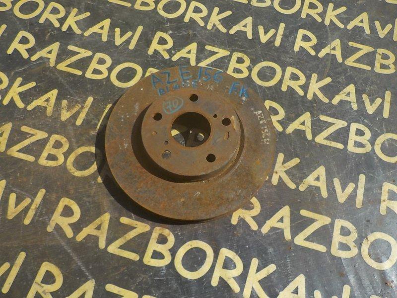 Тормозной диск Toyota Blade AZE154H 2AZFE передний правый