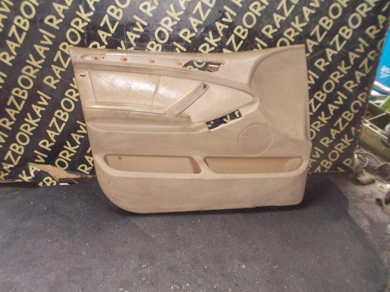 Обшивка дверей Bmw X5 E53 M54 2000 передняя левая