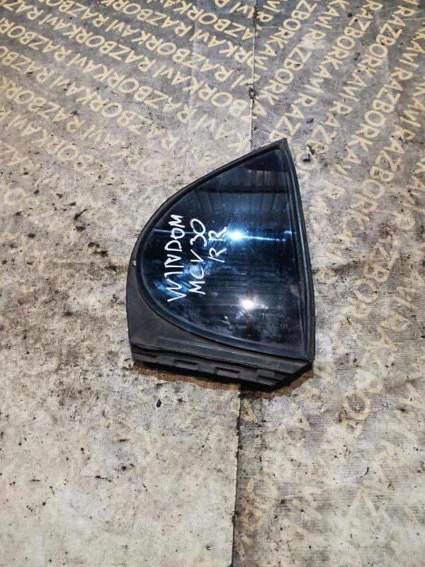 Форточка двери Toyota Windom MCV30 1MZFE задняя правая
