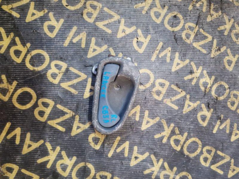 Ручка двери внутренняя Mitsubishi Lancer CB3A задняя левая