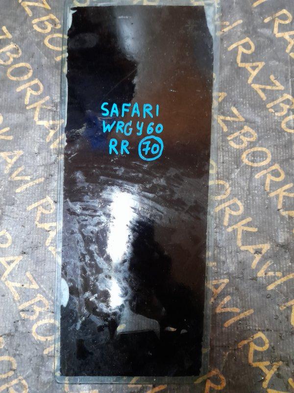 Форточка двери Nissan Safari Y60 задняя правая