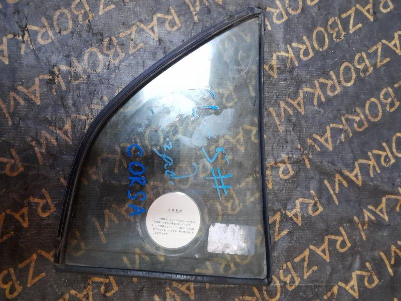 Форточка двери Toyota Corsa EL51 задняя левая