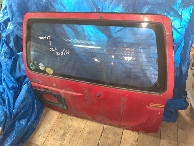 Дверь задняя Mitsubishi Pajero V21W задняя