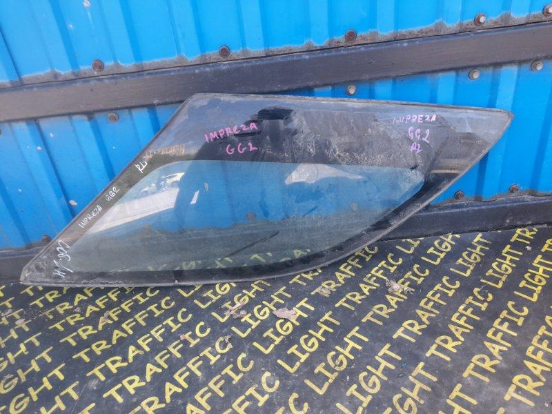 Стекло собачника Subaru Impreza GG2 заднее левое