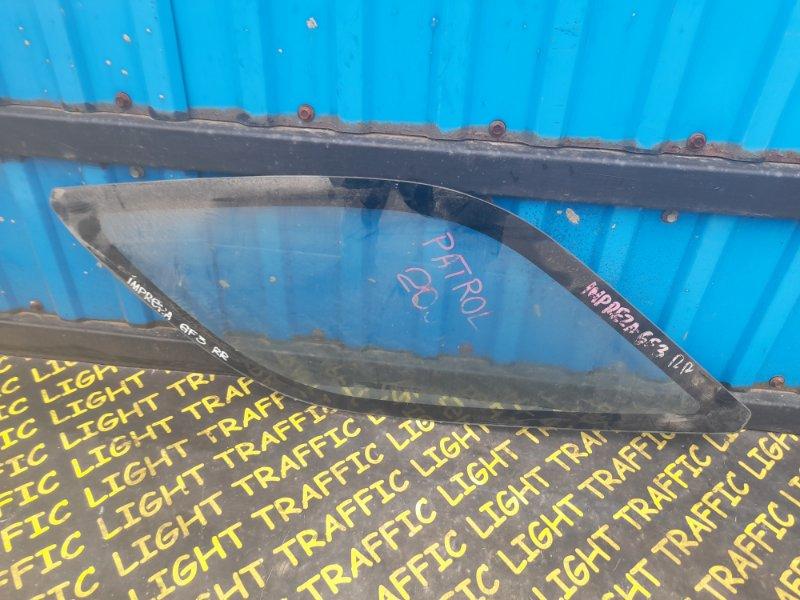 Стекло собачника Subaru Impreza GF3 заднее правое