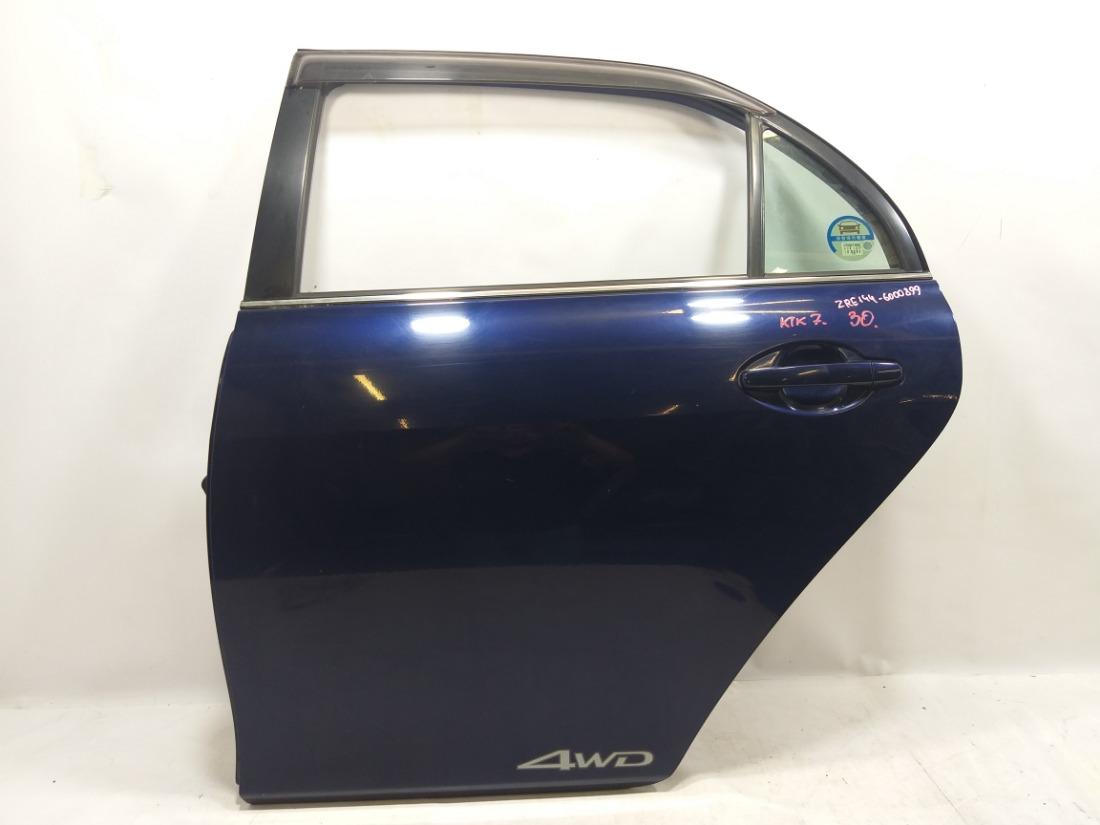 Дверь Toyota Corolla Axio ZRE142 2ZRFE 2007 задняя левая