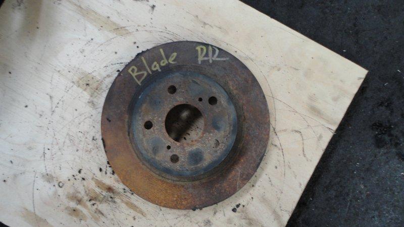 Тормозной диск Toyota Blade AZE156 2AZ 2007 задний
