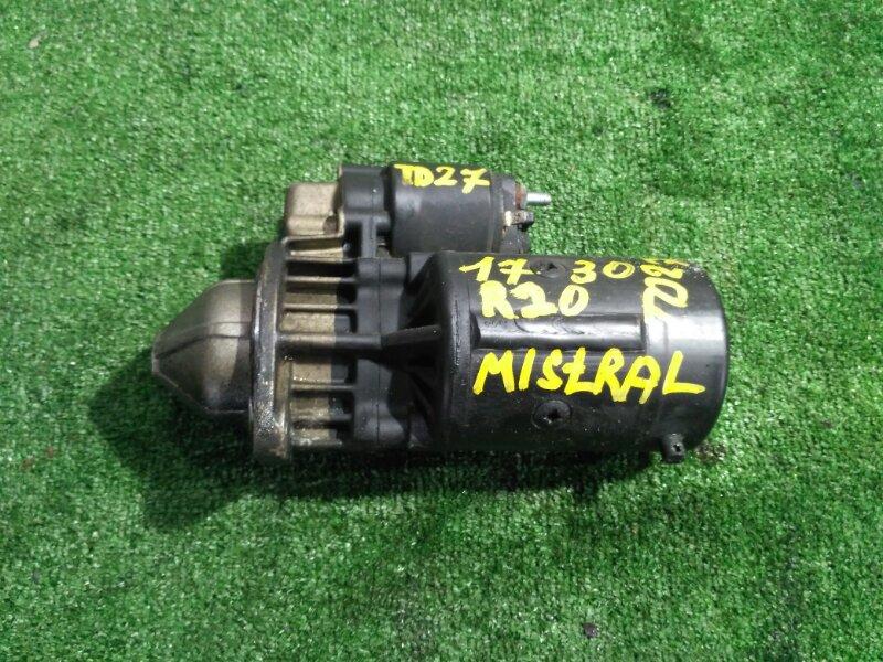 Стартер Nissan Mistral R20 TD27-KC12385B 1996