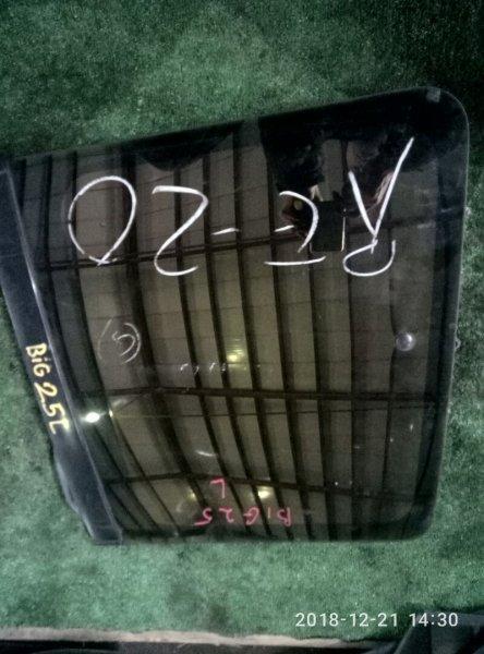 Стекло собачника Isuzu Bighorn UBS 25 DW 6VD1 заднее левое