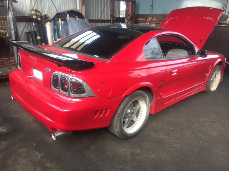 Бампер Ford Mustang 1FARW40 1999 задний