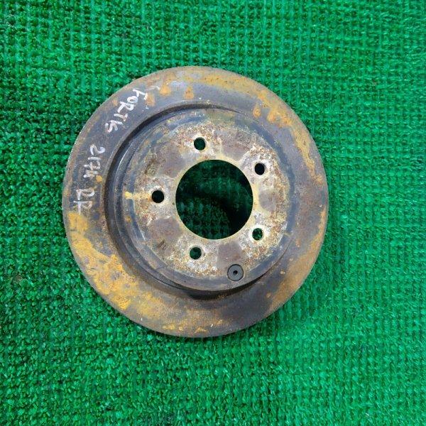 Тормозной диск Mitsubishi Galant Fortis CY4A 4B11 2008 задний правый