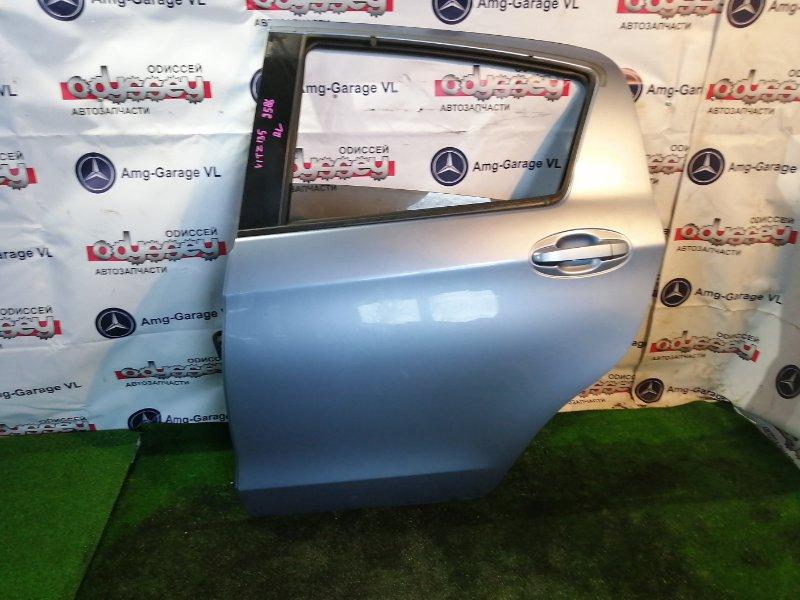 Дверь Toyota Vitz NSP135 1NR-FE 2011 задняя левая