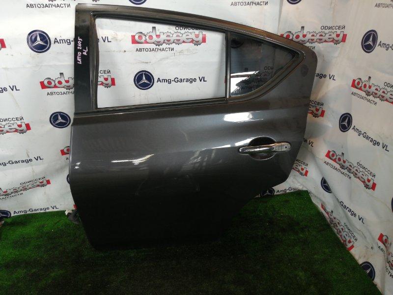 Дверь Nissan Latio N17 HR12 2014 задняя левая