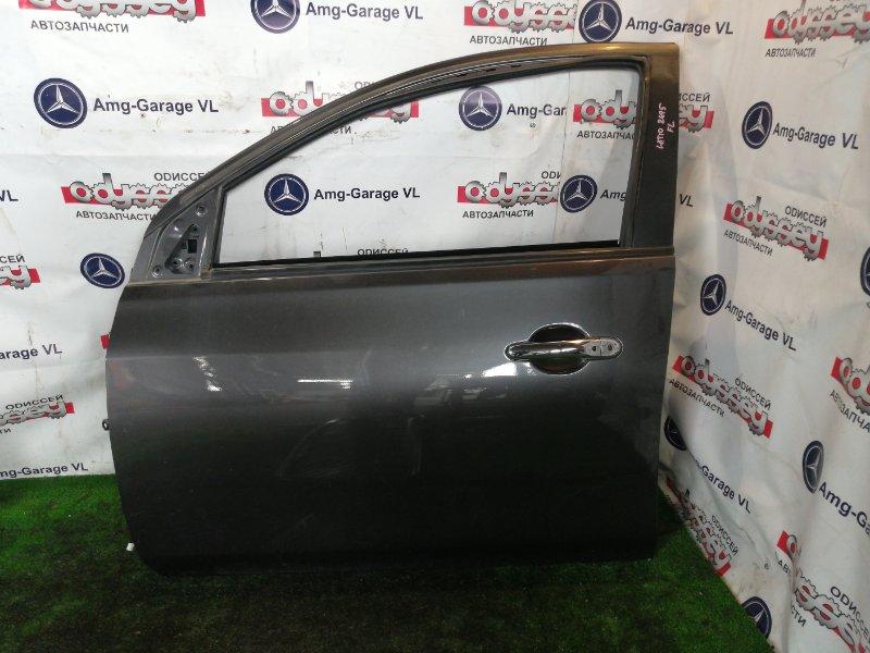 Дверь Nissan Latio N17 HR12 2014 передняя левая